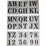 Grands Chiffres et Lettres de L'Alphabet 10cm ROMAIN Majuscules sur 9 feuilles de 29.5 x 20cm de la marque Dovetails image 1 produit