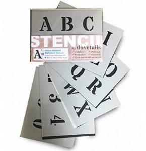 Grands Chiffres et Lettres de L'Alphabet 4cm ROMAIN Majuscules sur 6 feuilles de 20 x 14.8cm de la marque Dovetails image 0 produit