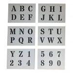 Grands Chiffres et Lettres de L'Alphabet 4cm ROMAIN Majuscules sur 6 feuilles de 20 x 14.8cm de la marque Dovetails image 1 produit