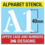 Grands Chiffres et Lettres de L'Alphabet 4cm ROMAIN Majuscules sur 6 feuilles de 20 x 14.8cm de la marque Dovetails image 2 produit