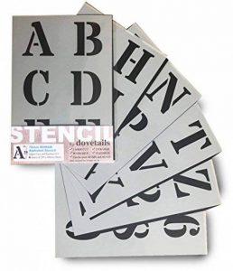 Grands Chiffres et Lettres de L'Alphabet 7cm ROMAIN Majuscules sur 6 feuilles de 29.5 x 20cm de la marque Dovetails image 0 produit