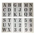 Grands Chiffres et Lettres de L'Alphabet 7cm ROMAIN Majuscules sur 6 feuilles de 29.5 x 20cm de la marque Dovetails image 1 produit