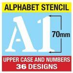 Grands Chiffres et Lettres de L'Alphabet 7cm ROMAIN Majuscules sur 6 feuilles de 29.5 x 20cm de la marque Dovetails image 2 produit