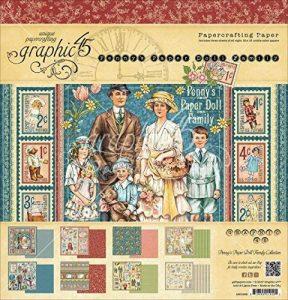 Graphic 45 Penny de papier poupée Famille 12x 12Pad de la marque Graphic 45 image 0 produit