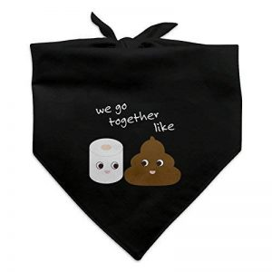 Graphics and More Papier toilette et déjections canines WE Go Together Like Funny emoji amis Chien Bandana – Noir de la marque Graphics and More image 0 produit