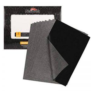 Graphite papier transfert de carbone, Nexlook 50feuilles 22,9x 33cm papier calque pour bois, papier, Art de Toile, EN MÉTAL laqué et d'autres surfaces [Noir] de la marque Nexlook image 0 produit