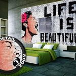 GREAT ART Affiche Banksy, décoration de peinture murale d'artiste de Graffiti Life is Beautiful, style de rue Pop, style d'Artiste de rue Stencil | mur deco Poster mural Image by (140 x 100 cm) de la marque GREAT ART image 3 produit