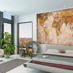 GREAT ART Carte du monde Décoration murale vintageet rétro (140 x 100 cm) de la marque GREAT ART image 3 produit