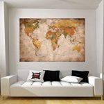GREAT ART Carte du monde Décoration murale vintageet rétro (140 x 100 cm) de la marque GREAT ART image 4 produit