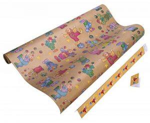 Green Paper Papier cadeau 4260087671135Papier cadeau röllchen enfants de papier cadeau Plus 9cadeau pendentif Premium, papier Kraft, Très indéchirable Pepino de la marque Green Paper Geschenkpapier image 0 produit