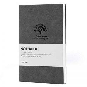 GRIS Bullet Journal/Dotted Carnet de Notes - Lemome Medium A5 Bullet Journal - Papier de Qualité Supérieure 125g/m² - Carnet de Notes à Couverture Souple Notebook Classique de 5x8 pouces de la marque Lemome image 0 produit