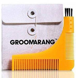 Groomarang Pochoir à Barbe avec 2 Peignes Intégrés/Brossette de Nettoyage de la marque Groomarang image 0 produit
