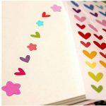 Gudotra 5040 Gomettes Enfants 72 feuilles Stickers Colorés Autocollants Motifs Coeur Étoiles Points Colorés pour Développer Créativité Album Scrapbooking DIY avec 4 Petits Pochoirs(9×15CM) de la marque Gudotra image 2 produit
