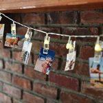 Guirlande lumineuse DEL 196 cm avec 16 pinces photo DEL blanc chaud pour papier photo 5 x 7 cm Fuji Instax Mini 9, 26, 8, 7 Instant Camera de la marque Polaroid image 4 produit