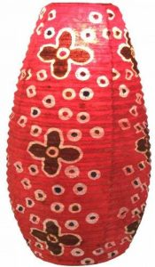Guru-Shop Abat-jour Ovale en Papier Lokta, Lampe Suspendue Corona Flower Power, Rouge, DupapierLokta, Couleur : Rouge, 52x29x29 cm, Papier Ovale D'abat-jour de la marque Guru-Shop image 0 produit