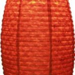 Guru-Shop Abat-jour Ovale en Papier Lokta, Lampe Suspendue Corona, Rouge, DupapierLokta, Couleur : Rouge, 50x30x30 cm, Papier Ovale D'abat-jour de la marque Guru-Shop image 2 produit