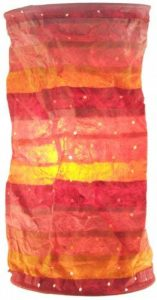 Guru-Shop Suspension Papier Rond, Abat-jour Papier Lokta Pamir, Papier Fait Main - Coucher du Soleil Couchant, DupapierLokta, 50x20x20 cm, Papier Abat-jour Cylindrique de la marque Guru-Shop image 0 produit