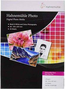 Hahnemühle photo Mat fibre Duo Papier, 210g/m², blanc naturel 210 x 297 mm blanc naturel de la marque Hahnemühle image 0 produit