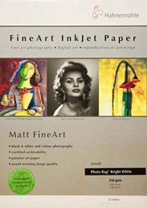 Hahnemühle Digital Fine Art Photo Rag Papier, 310g/m² 297 x 420 mm Blanc clair de la marque Hahnemühle image 0 produit