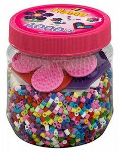 Hama 2051 - Loisirs Créatifs - Pot 4000 Perles à Repasser + 3 Plaques - Taille Midi de la marque Hama image 0 produit