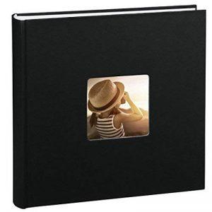 Hama Jumbo Album photo beaux-arts (30 x 30 cm, 100 pages, 50 feuilles, avec découpe pour insertion d'image) noir de la marque Hama image 0 produit
