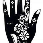 Henna Tattoo 8pochoirs modèle Sheet Fleur 8–Henna peints de la marque Beyond Paradise image 4 produit