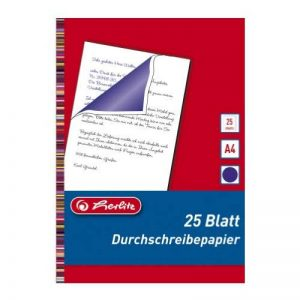 Herlitz 10303717 Lot de 25 feuilles de papier carbone pour écriture à la main A4 (Bleu) (Import Allemagne) de la marque Herlitz image 0 produit