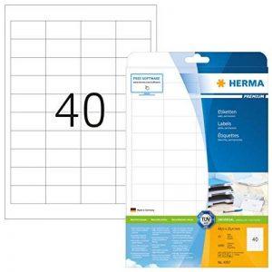 Herma 4357 Étiquettes 48,5 x 25,4 Premium A4 1000 pièces Blanc de la marque HERMA image 0 produit