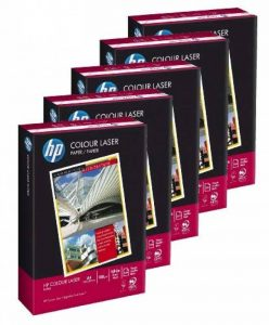 Hewlett Packard CHP350 10100163 Lot de 5ramettes papier 500feuilles Colour Laser pour impression laser couleur FormatA4 Grammage100g/m² Blanc de la marque HP image 0 produit
