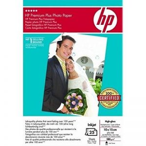 Hewlett Packard [HP] Premium Plus papier photo brillant 280 g/m² 100 x 150 mm Ref Sd684 a [25 feuilles] de la marque HP image 0 produit