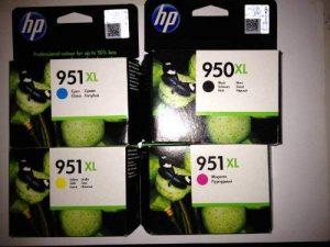 Hewlett-Packard Lot de 4 cartouches d'encre XL pour imprimante HP Officejet Pro 8100 Eprinter, 8600 Premium, 8600 Plus Noir/cyan/jaune/magenta Format XL + 10 feuilles de papier photo 10 x 15 cm (240 g/m²) de la marque HP image 0 produit