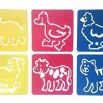 Hillento 6 packs (36 pièces) peinture pochoir en plastique animaux modèles de dessin pour enfants pour l'artisanat des enfants, six modèles différents de modèles de peinture, modèle lavable pour les projets scolaires de la marque Hillento image 5 produit