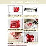 Hoho 30cmx50cm transfert de chaleur en vinyle PU thermocollant papiers DIY t-shirts HTV pour Cricut et Cameo Silhouette (Vert clair) de la marque HOHO image 3 produit