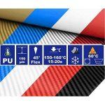 Hoho Gris en fibre de carbone en vinyle de transfert de chaleur HTV chaleur Appuyez sur papier pour DIY Vêtements T-shirt Hot stamping film 50,8x 50,8cm de la marque HOHO image 2 produit
