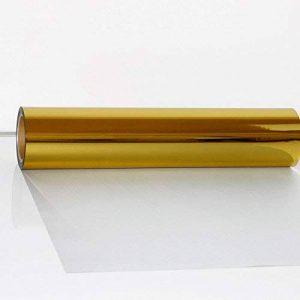 Hoho PVC thermocollant en vinyle de transfert de chaleur la chaleur Presse transfert textile film DIY Vêtements (50cmx100cm) 50cmx100cm doré de la marque HOHO image 0 produit
