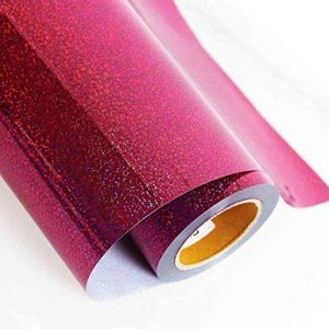 Hoho transfert de chaleur en vinyle de coupe film Cutter Press holographique coloré thermocollant pour textile Magenta 50,8x 30,5cm de la marque HOHO image 0 produit