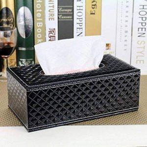 HOME boîte de mouchoirs en cuir de mode personnalisé Continental voiture accueil bac à papier de pompage créatif salon boîte serviette de table en bois de la marque Tissue box image 0 produit