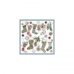 Home Fashion Loisirs Créatifs Serviettes en papier chaussettes de Noel 33 x 33 cm de la marque Rayher-Hobby image 0 produit