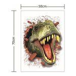 HOOLEE 50 * 70 cm Stickers muraux de Dinosaure 3D Autocollant de Maison Décoration créative Sticker animal de la marque HOOLEE image 1 produit