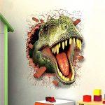 HOOLEE 50 * 70 cm Stickers muraux de Dinosaure 3D Autocollant de Maison Décoration créative Sticker animal de la marque HOOLEE image 2 produit