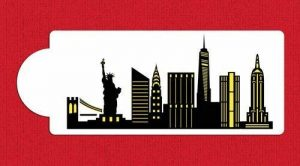 Horizon de New York City détaillée gâteau Pochoir côté C1000par la designer Pochoirs de la marque Designer Stencils image 0 produit
