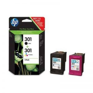 HP 301 noir &301 Lot de 2 cartouches d'encre de couleur Genuine Lot vendu dans l'emballage de détail original &10 x Papier Photo brillant avancé gratuits pour HP Deskjet 1000 1050 1050se 1050A 2000 2050 2050A 2050se 2054A 3000 3050 3050A 3050se 3050ve 305 image 0 produit