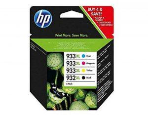 HP 932XL/933XL Pack de 4 Cartouches d'Encre Noir/Cyan/Magenta/Jaune Grande Capacité Authentiques (C2P42AE) de la marque HP image 0 produit