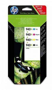 HP 940XL Pack de 4 Cartouches d'Encre Noir/Cyan/Magenta/Jaune Grande Capacité Authentiques - C2N93AE de la marque HP image 0 produit