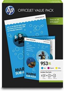HP 953XL Pack Économique Office 3 Cartouches Grande Capacité Couleur et 75 Feuilles/A4/210 x 297 mm (1CC21AE) de la marque HP image 0 produit