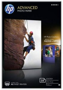 HP Advanced Photo Paper glace Papier jet d'encre Photo 250g 10 x 15 cm de la marque HP image 0 produit