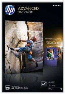 HP Advanced Photo Paper glace Papier jet d'encre Photo 250g de la marque HP image 0 produit