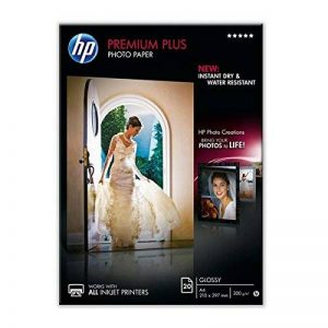 HP CR672A Papier photo premium plus A4 Brillant de la marque HP image 0 produit