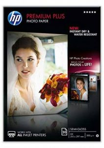 HP CR673A Papier photo premium plus A4 Semi-Brillant de la marque HP image 0 produit