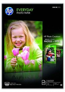 HP Everyday Photo Paper Papier Brillant A4 (210 x 297 mm) 200 g/m2 100 pc. Q2510 [Ancien Modèle] de la marque HP image 0 produit